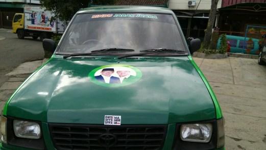 stiker mobil bandung branding caleg mangele