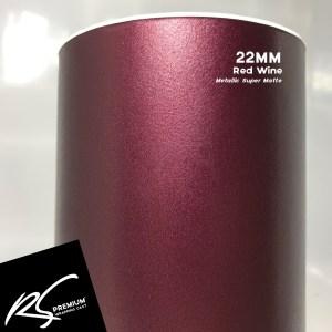 22MM Red Wine Metallic Super Matte