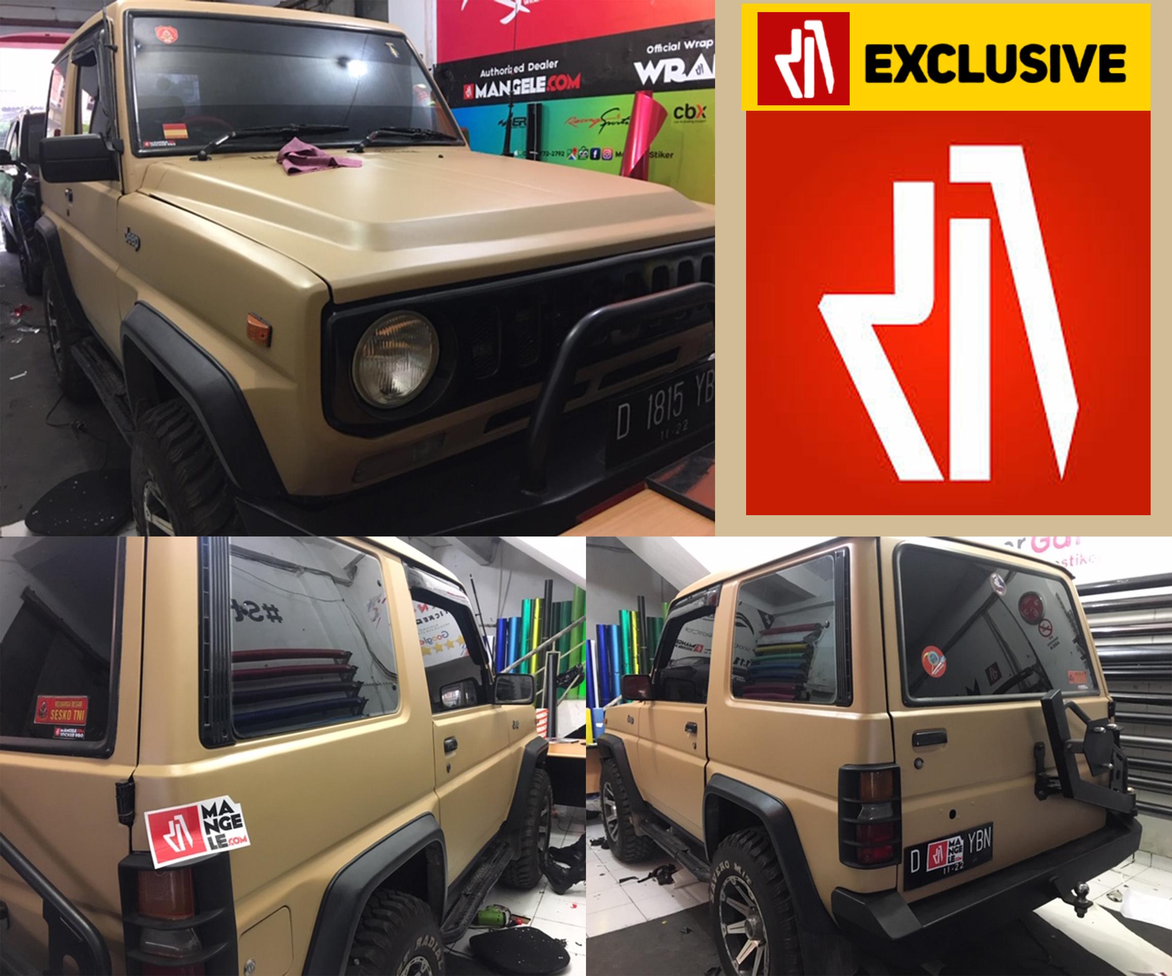 Keren! Tampil Exclusive dgn Stiker Mobil Premium Mangele Bandung