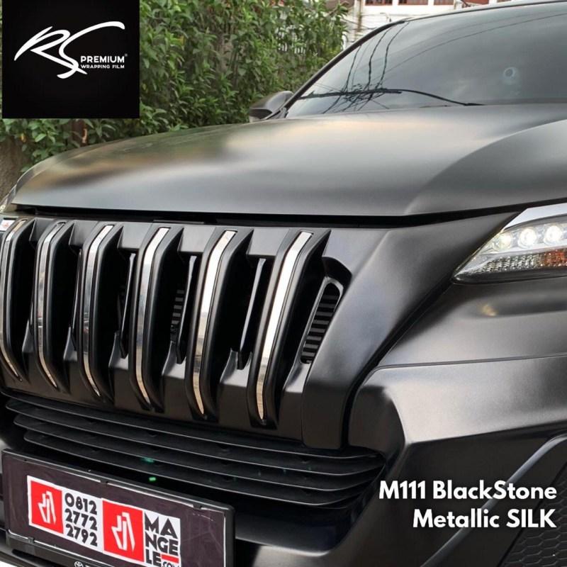 Fortuner fullwrapping M111 Black Stone Metallic Silk Premium STicker Keren Mangele