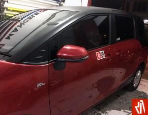 stiker mobil bandung mangele wrap sienta body atas sticker hitam doff rapih keren