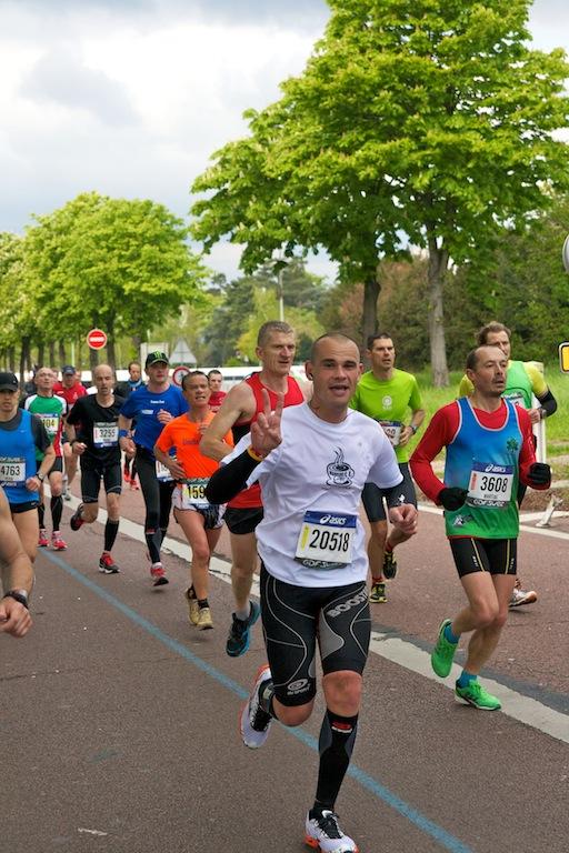 Fabrice Marathon de Paris 2013