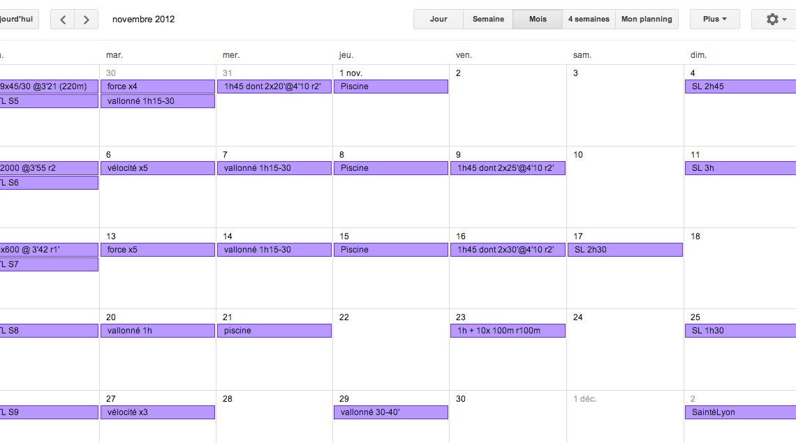 SaintéLyon 2012 : le plan d'entrainement