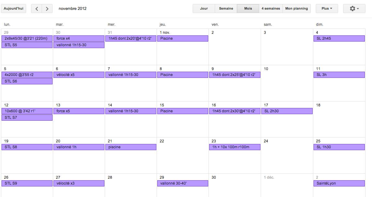 SaintéLyon : plan d'entrainement