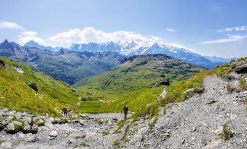 Voilà le genre de vue qui fait perdre 5' (Col d'Anterne, dernière descente du trail du tour des Fiz)