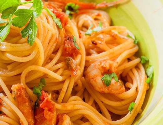 spicy shrimp spaghetti recipe