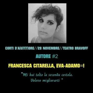 Francesca Citarella_autrice_Eva - Adamo = !