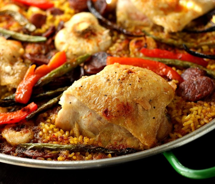 Chicken, Shrimp, & Chorizo Paella & A Giveaway!