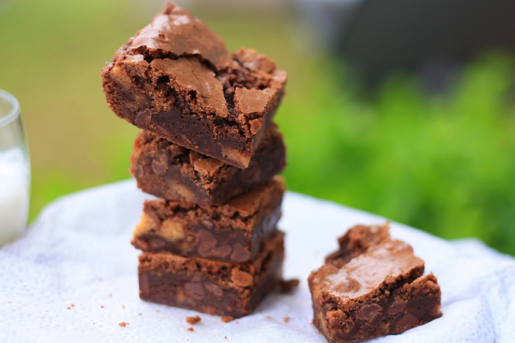 Reese's Peanut Butter Egg Double Chocolate Brownies