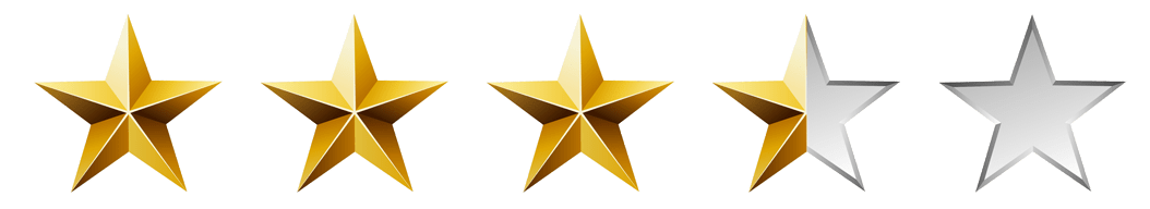 Image result for three and a half stars