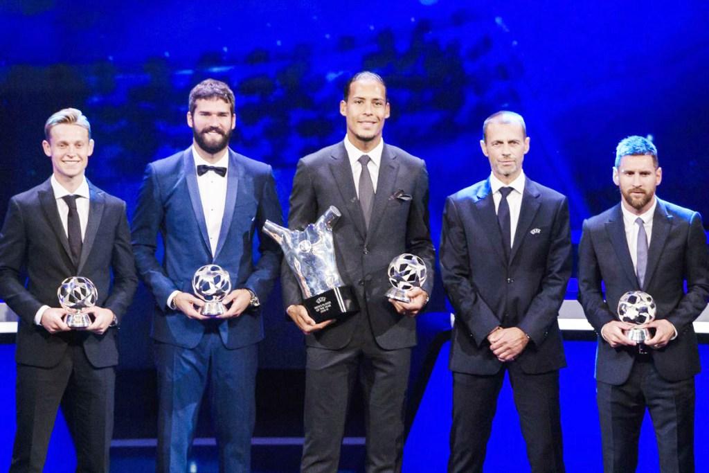 UEFA ta fitar da zakarun 'yan wasa na 2020