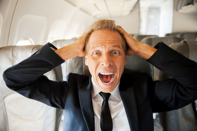 how to stop a panic attack -man on plane