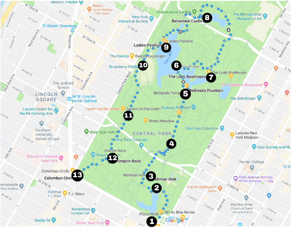 A walking tour of Central Park - all of my favorite spots! Free printable guide & map.