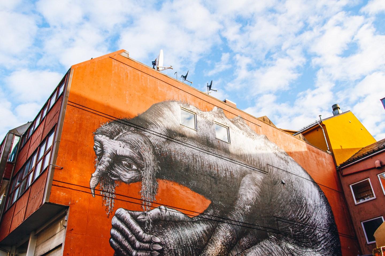 Street art outside DamaDi bar in Bodø