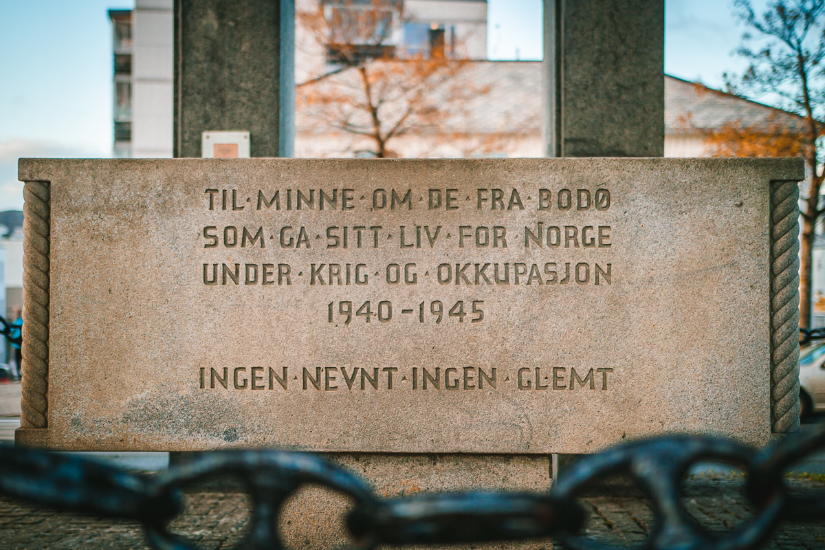Things to do in Bodø: see the WWI memorial at Bodø Cathedral