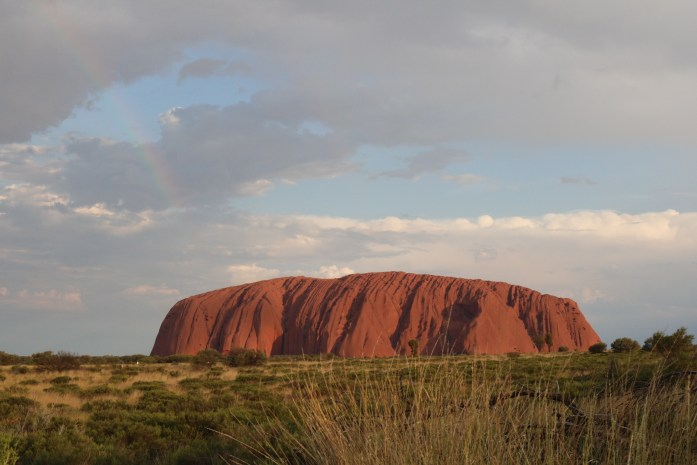 Watching the sunset over Uluru is one of the most beautiful parts of Adventure Tours' Rock to Rock Tour.