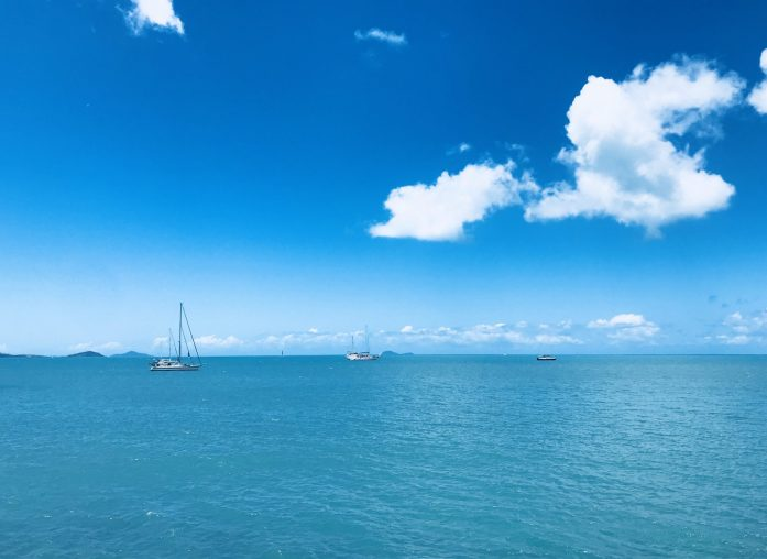 Most Whitsunday Island trips depart from the marinas of Airlie Beach.