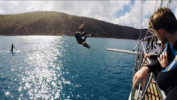 New Horizon is one of the only boats with a diving board and slide in the Whitsunday Islands.