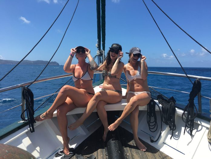 With only 32 travelers on board the New Horizon, it's easy to make friends while sailing around the Whitsunday Islands.