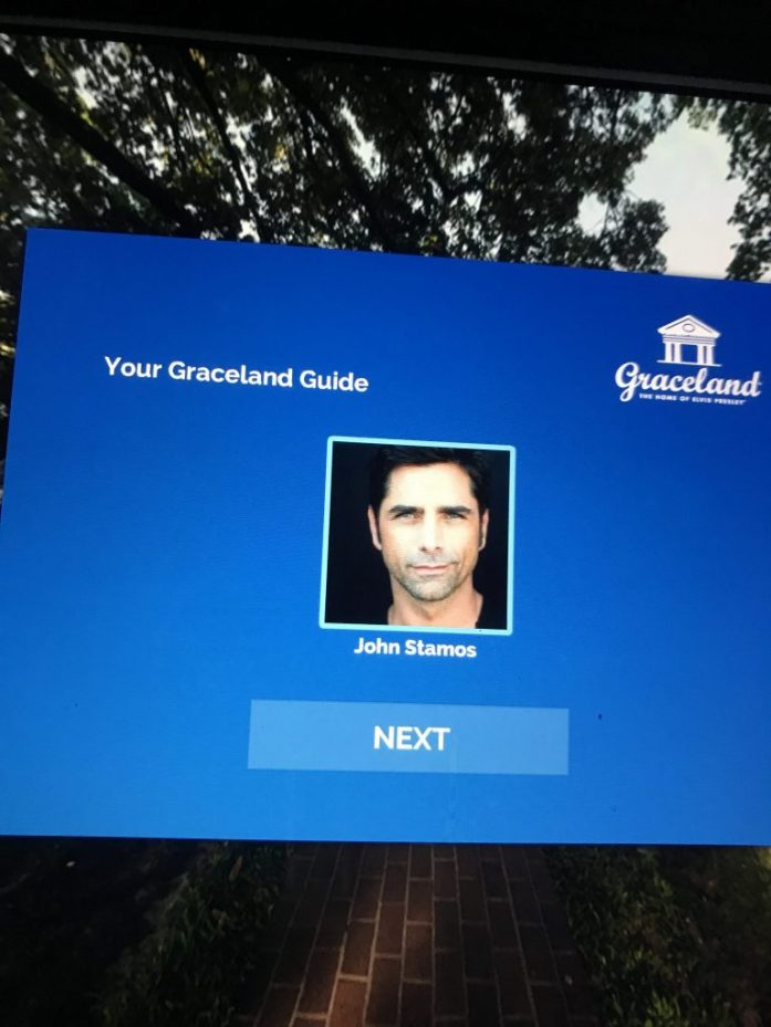 John Stamos, whose Full House character Uncle Jesse famously loved Elvis, provides commentary for the Graceland audio tour.