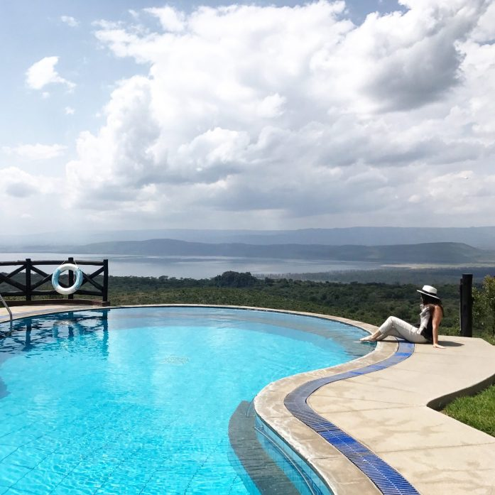 If this view from the pool at the Sopa Lodge Lake Nakuru hotel doesn't inspire you to book a safari, nothing will!