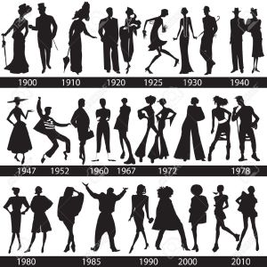 Fashion history silhouettes