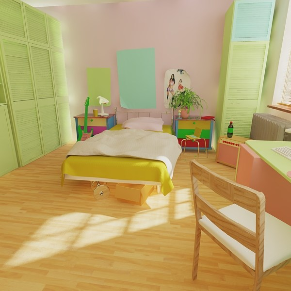 Room Rendered with AutoCAD