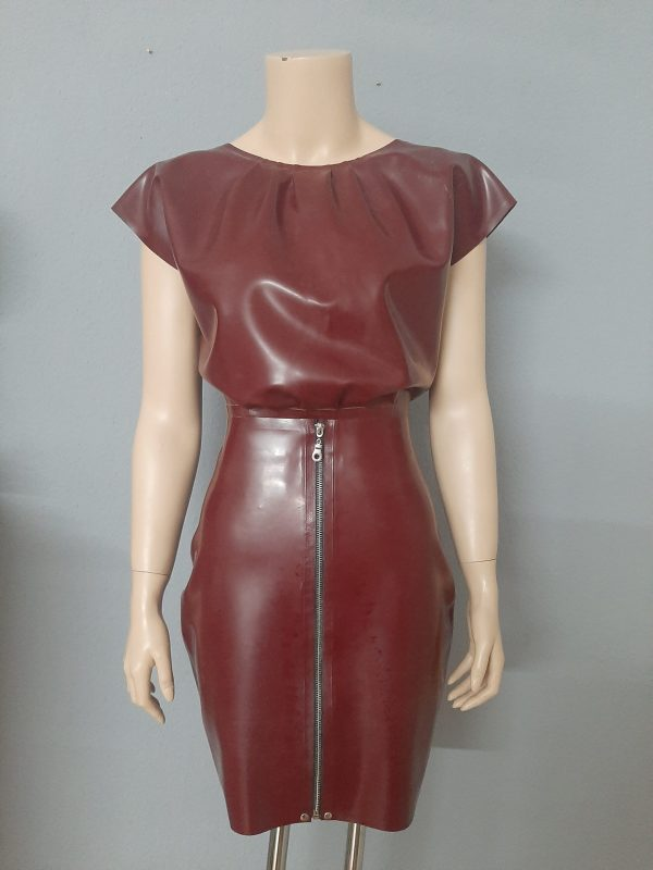Seductive Blouse_Zip Skirt_pflaume_Maniac Latex