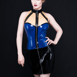 Zip Top_Zip Skirt (1)_Spikes'n'Stripes_Maniac Latex