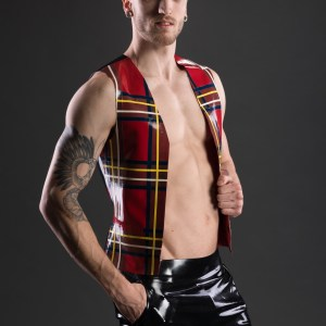 Tartan Vest (1)_Aries_Maniac Latex