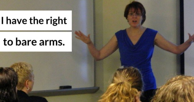 The right to bare arms!
