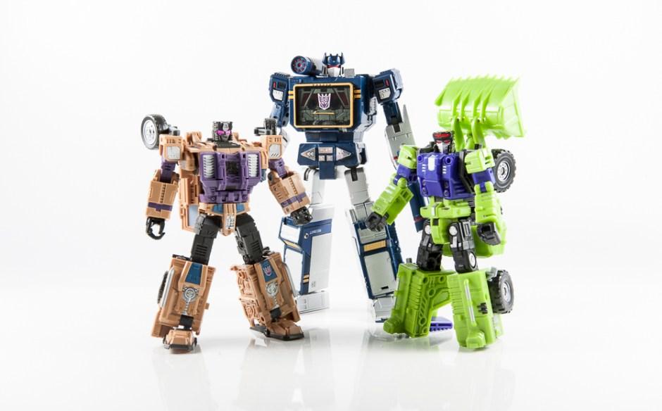transformers masterpiece swindle combaticon g1 bruticus decepticon warbotron sly strike combiner gestalt combaticons soundwave scoop