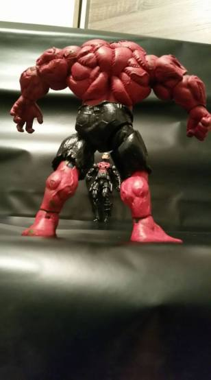 Marvel Select Red Hulk vs Marvel Universe Punisher