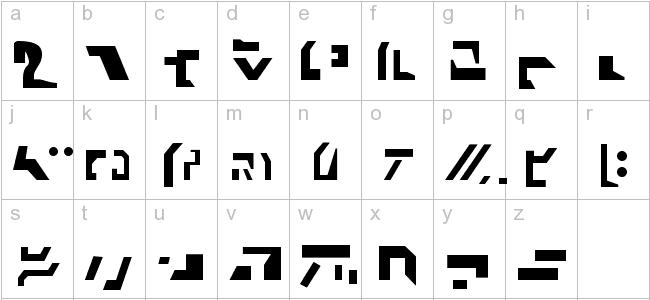 alfabet Autobotów