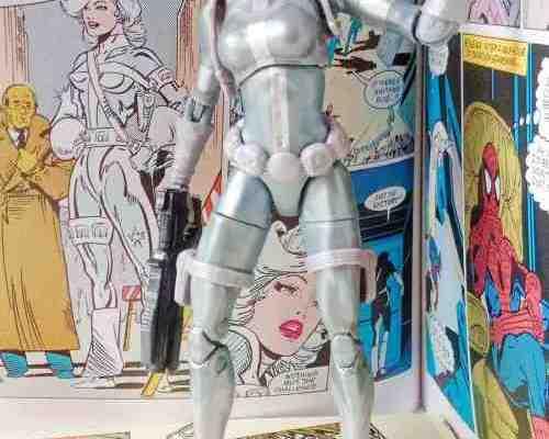 Silver Sable Marvel Legends KingpinBAF ManiacyFigurek glowneminiaturka