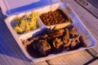 Whole Hog Barbecue Plate at the Hi-Tone, Memphis