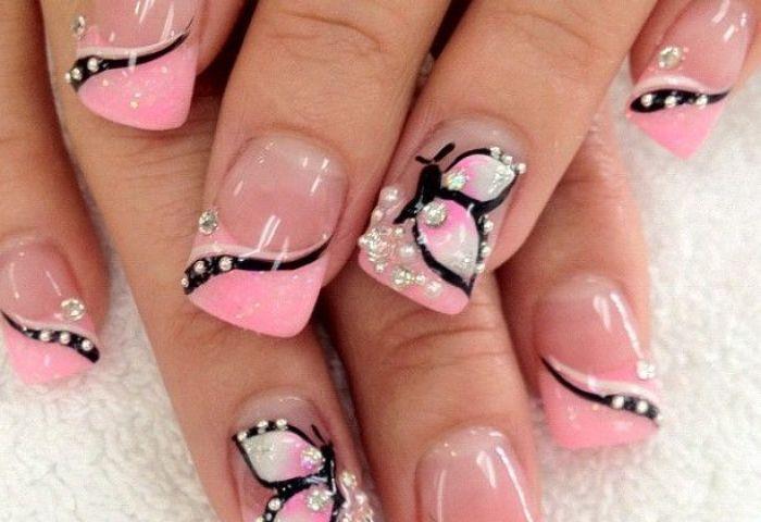 16 Impresionantes Diseños De Uñas Mariposas Manicure