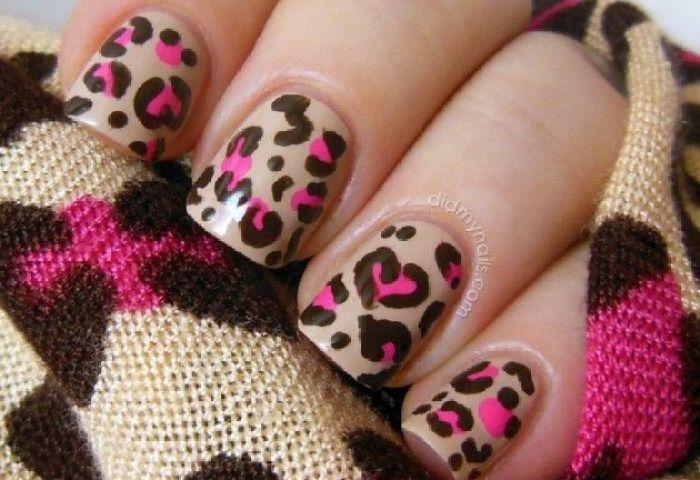 18 Lindos Diseños De Uñas Estilo Animal Print Manicure