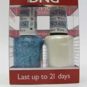 DND Gel Polish / Nail Lacquer Duo - 406 Frozen Wave