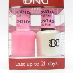 DND Gel Polish / Nail Lacquer Duo - 421 Petal PInk