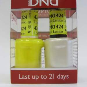 DND Gel Polish / Nail Lacquer Duo - 424 Lemon Juice