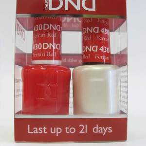 DND Gel Polish / Nail Lacquer Duo - 430 Ferrari Red