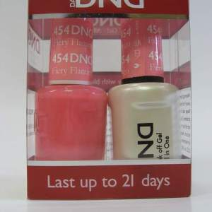 DND Soak Off Gel & Nail Lacquer 454 - Fiery Flamingo