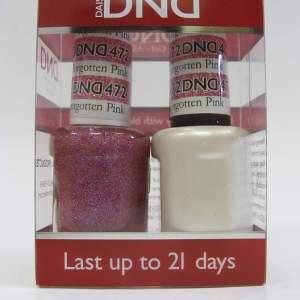 DND Soak Off Gel & Nail Lacquer 472 - Forgotten Pink