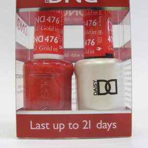 DND Soak Off Gel & Nail Lacquer 476 - Gold In Red