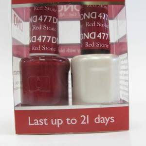 DND Soak Off Gel & Nail Lacquer 477 - Red Stone
