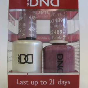 DND Soak Off Gel & Nail Lacquer 489 - Antique Purple