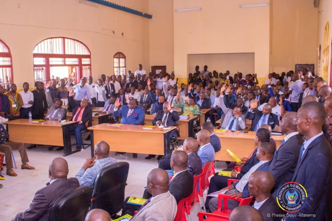 Maniema : Le budget de l'exercice 2020 déclaré recevable à l'unanimité des députés provinciaux