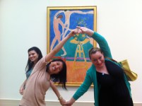 And Ju, Esther, & I are Matisse's dancing women (we couldn't get completely into character, for obvious reasons).