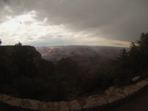 The view from the rim, as the storm becomes ominous.